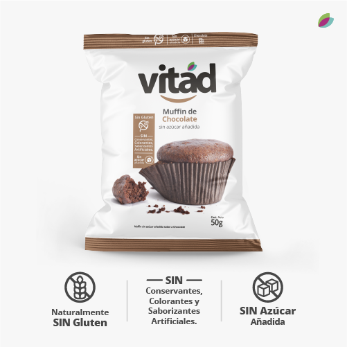 Muffin de chocolate x 6 empaques VITAD