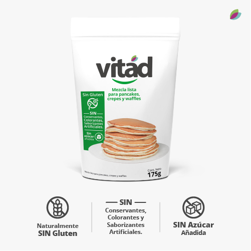Mezcla lista para pancakes, waffles y crepes VITAD