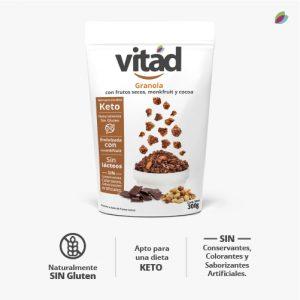 Granola KETO VITAD (Frutos secos, monkfruit y cocoa)