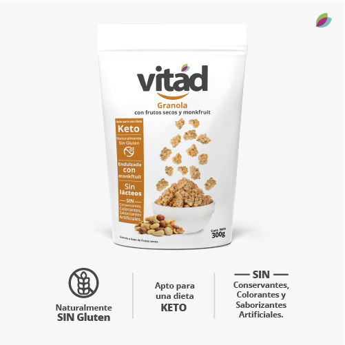 Granola KETO VITAD (Frutos secos, monkfruit)